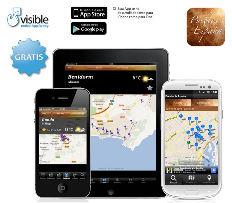 Pueblos de España para iOS y Android